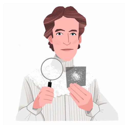 Henrietta Swan Leavitt estudando galáxias