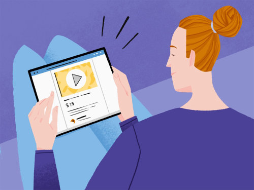 Conteúdo de vídeo no Marketplace