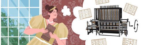 Ada Lovelace e código binário