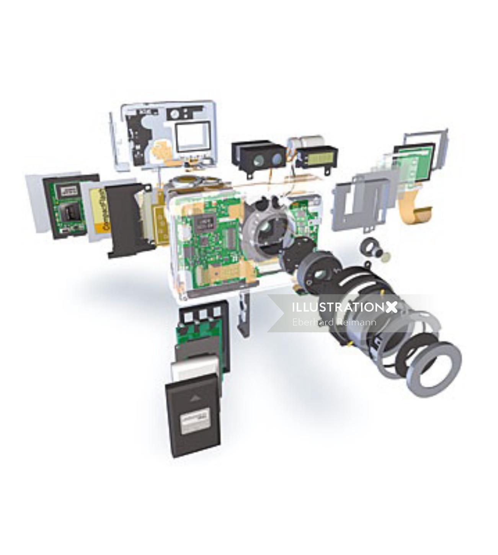camera dismantle