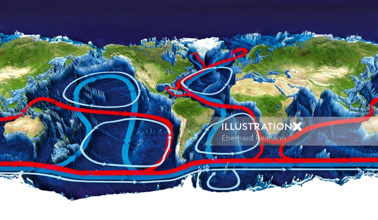 3d map of water circulation