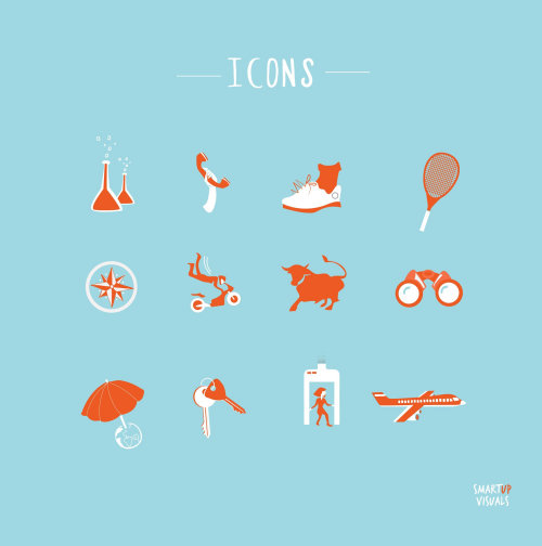 Vector icons of different categories