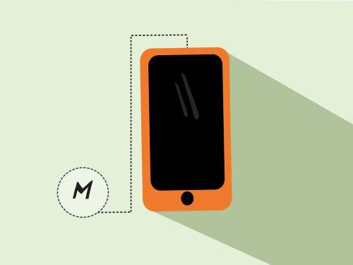 Communication ilustration of mobile