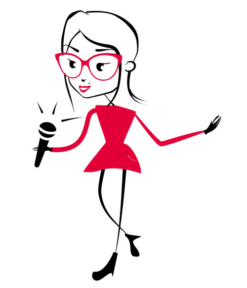 Entertainer female anchor graphical illustration