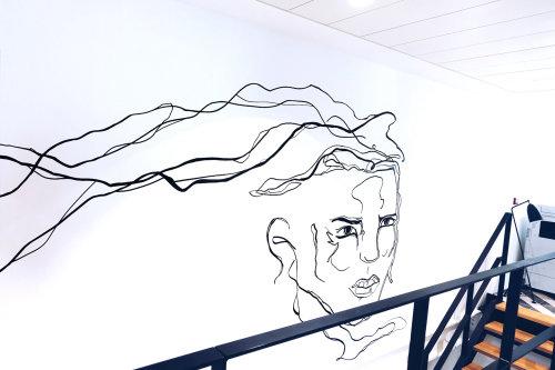 Line art face portrait