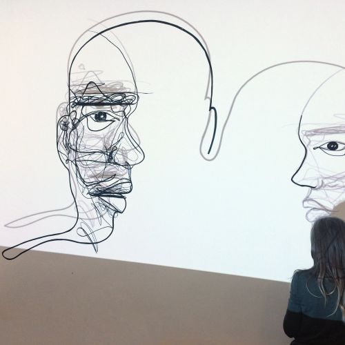 Drawing of multiple faces