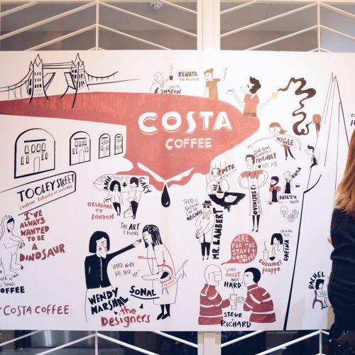 Graphic art costa coffee