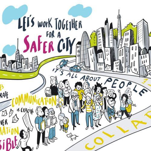 Graphic lets work together for a safer city