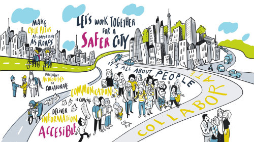 Graphic lets work together for a safer city