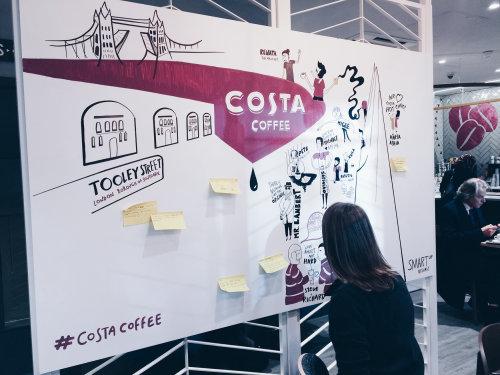 Costa Coffee Graphic live event