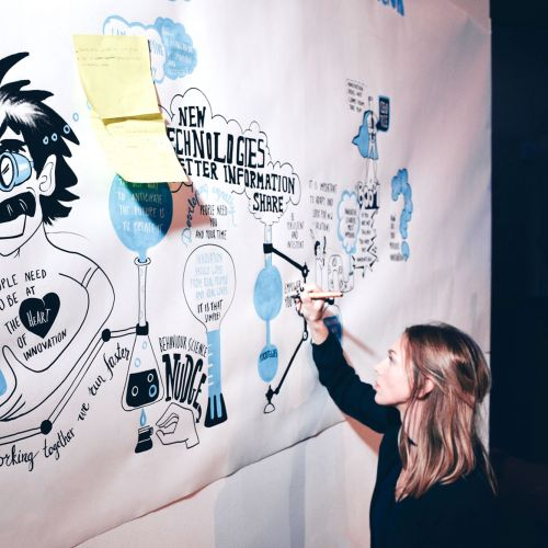 Live event drawing people poster