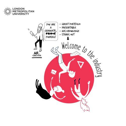 Graphic illustration of London Metropoliton University