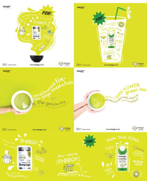 Teapigs Matcha tea illustrations