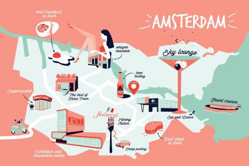 Infographic Amsterdam illustration