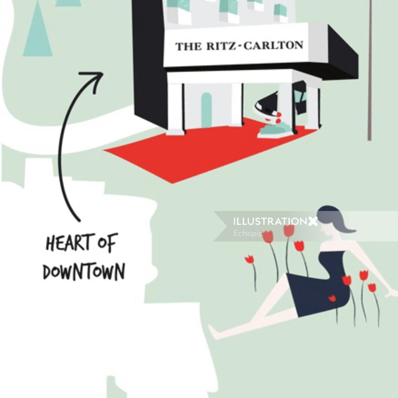 Graphic heart of downtown