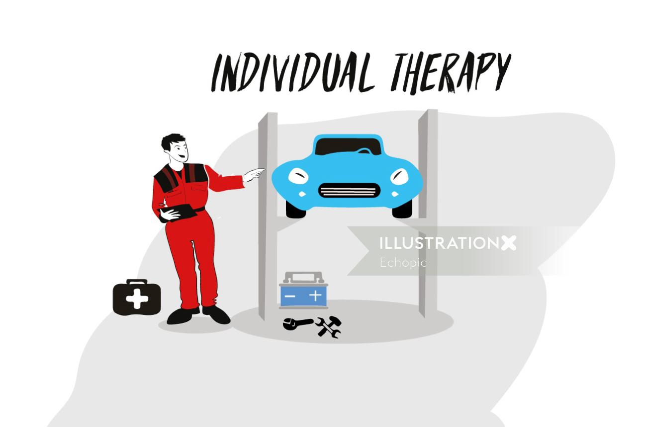 Graphic Individual therapy