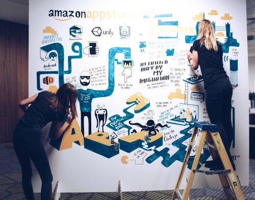 Evento Amazon AppStore Live Scribing