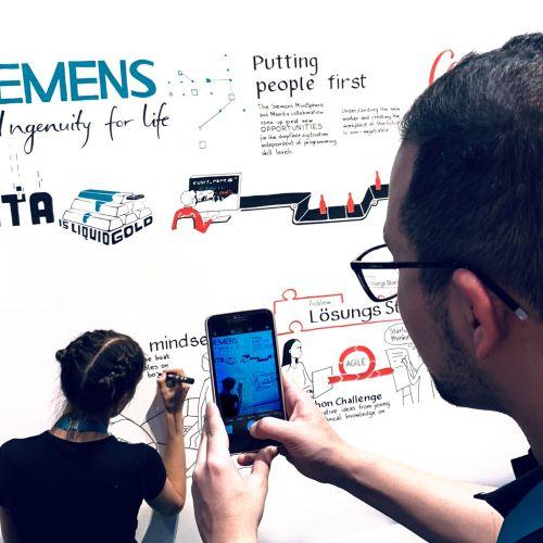 Graphic Siemens poster work