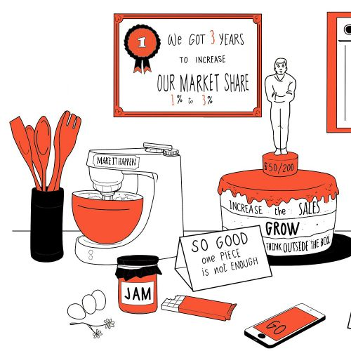 Business market illustration by Echopic