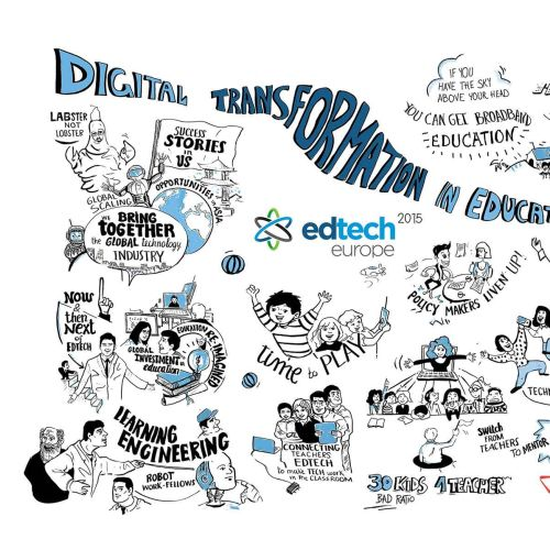 EdTech London 2015 lettering illustration