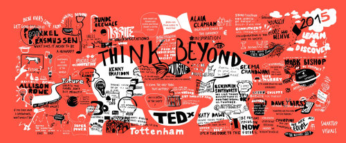 Poster TedX Tottenham event Think Beyond