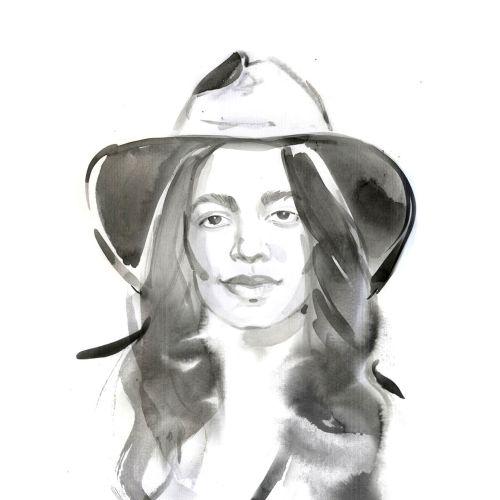 Fashion Portrait Illustration of Aurora James