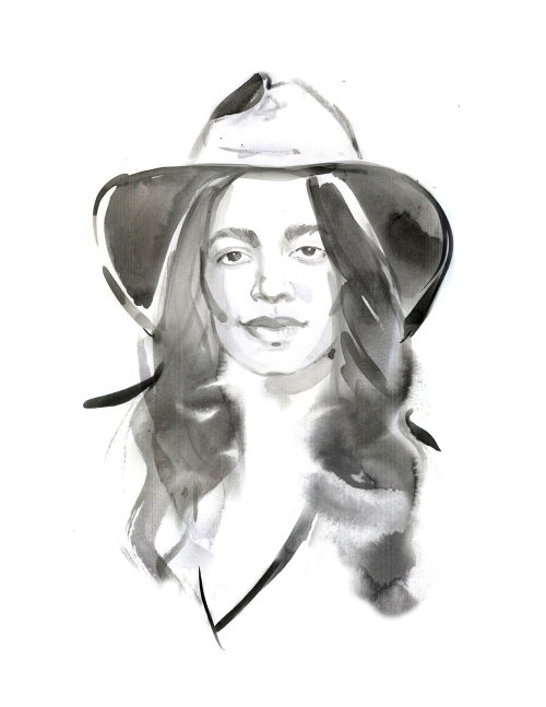 Fashion Portrait Illustration of Aurora James