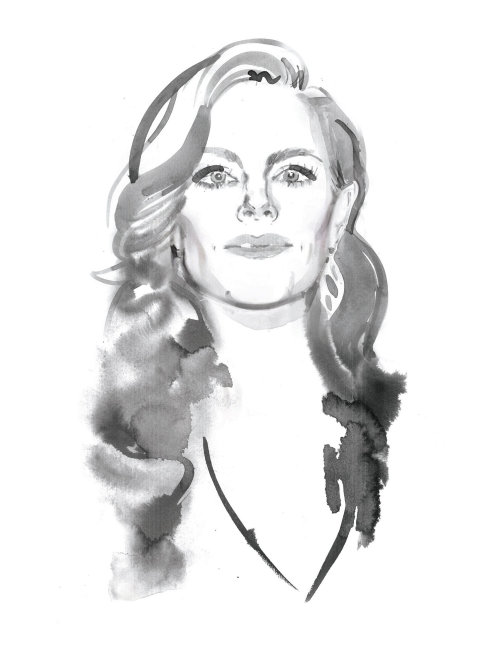 Emily Hampshire Illustration For Globe Style