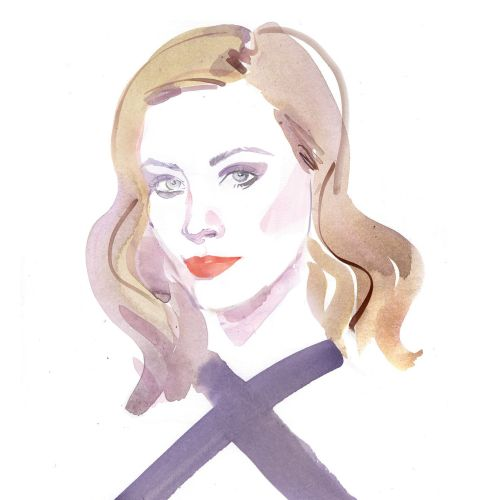 Watercolour Portrait Painting of Sarah Gadon