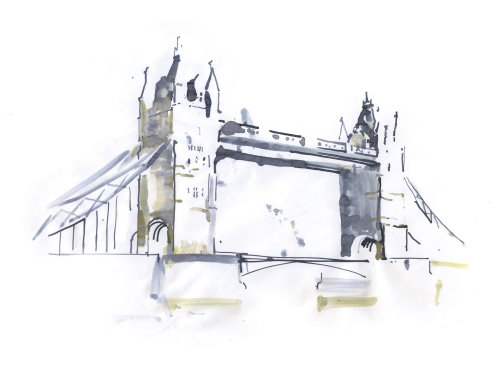 London bridge painting