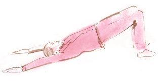 Hand painted woman doing yoga