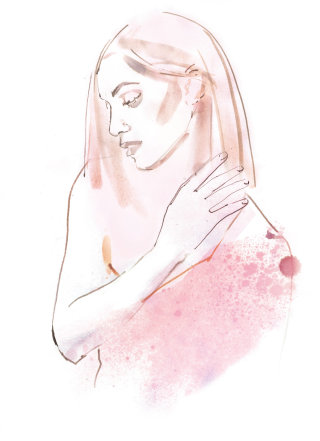 Girl watercolour painting