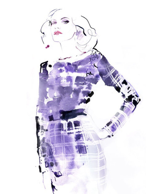 Watercolour fashion illustration of a woman