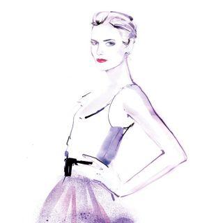 Fashion drawing of an elegant woman