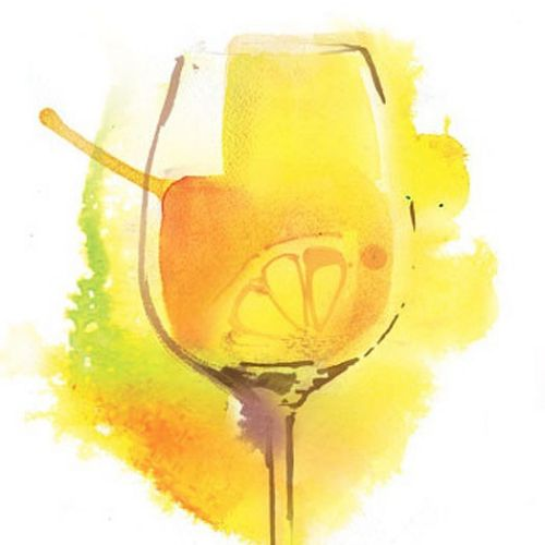 Watercolor illustration of cocktail