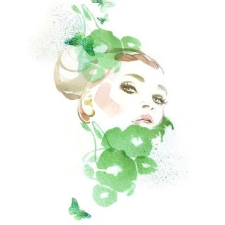 Portrait art by Elena Viltovskaia for scent