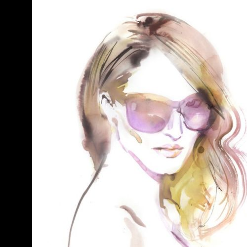 Elena Viltovskaia International Fashion & Beauty illustrator. Toronto