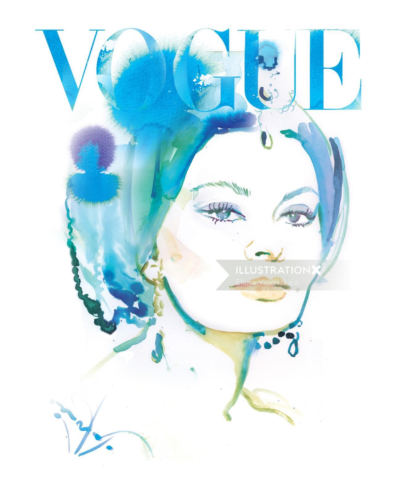Sophia Loren Painting For Vogue Magazine