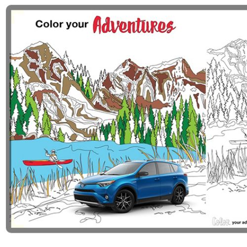 Vector illustration of Toyota adventure
