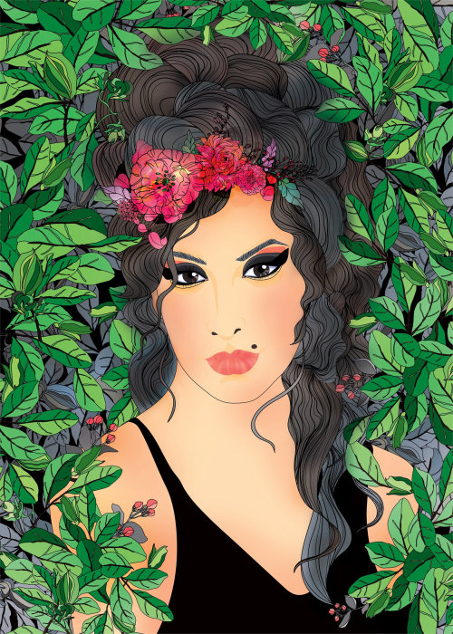 Arte do retrato de Amy Winehouse