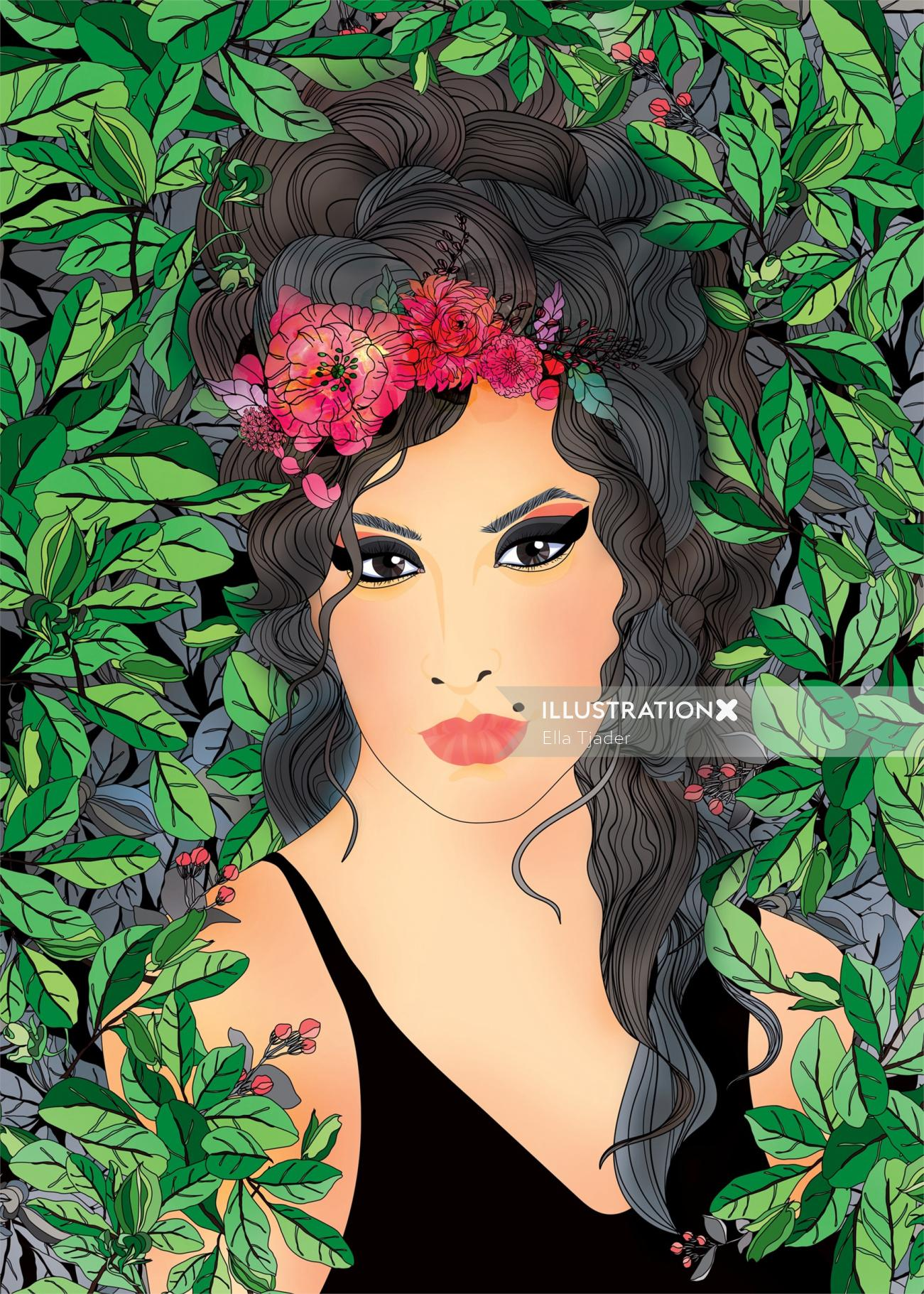Amy Winehouse portrait art