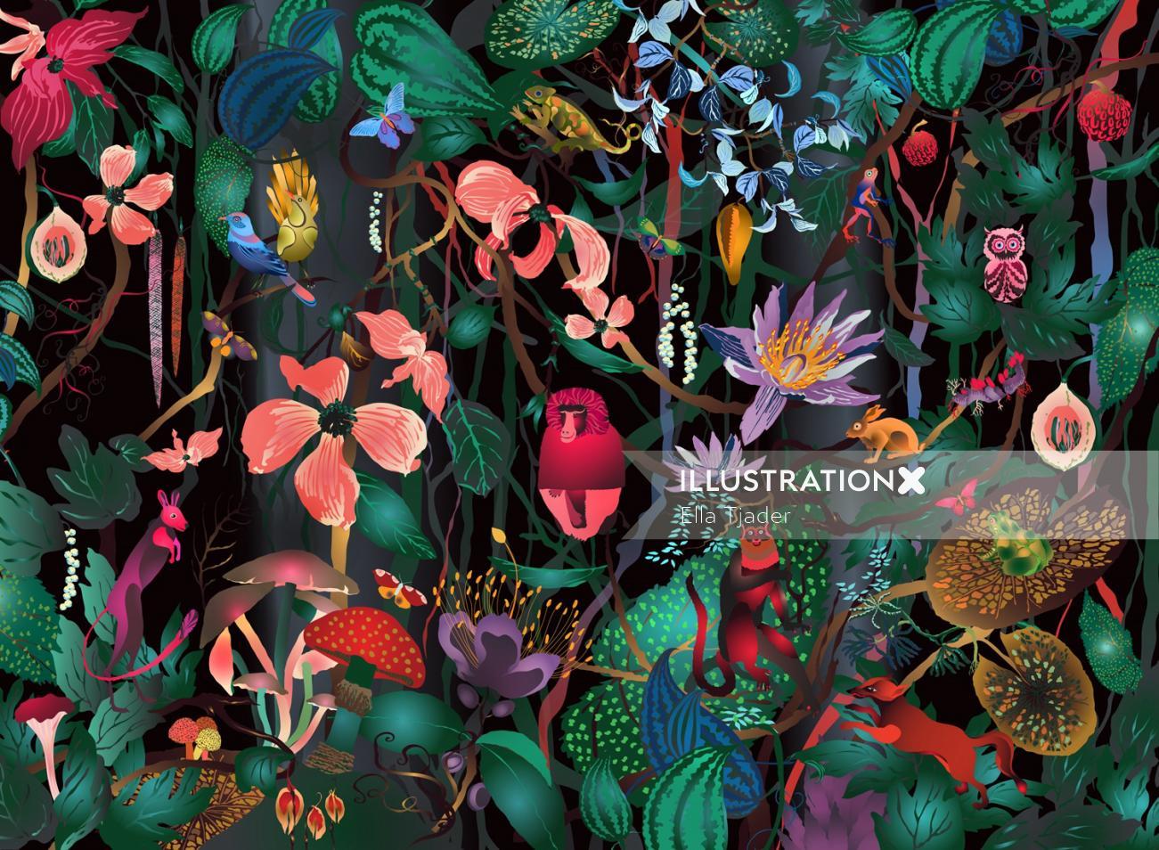 Nature illustration by Ella Tjader