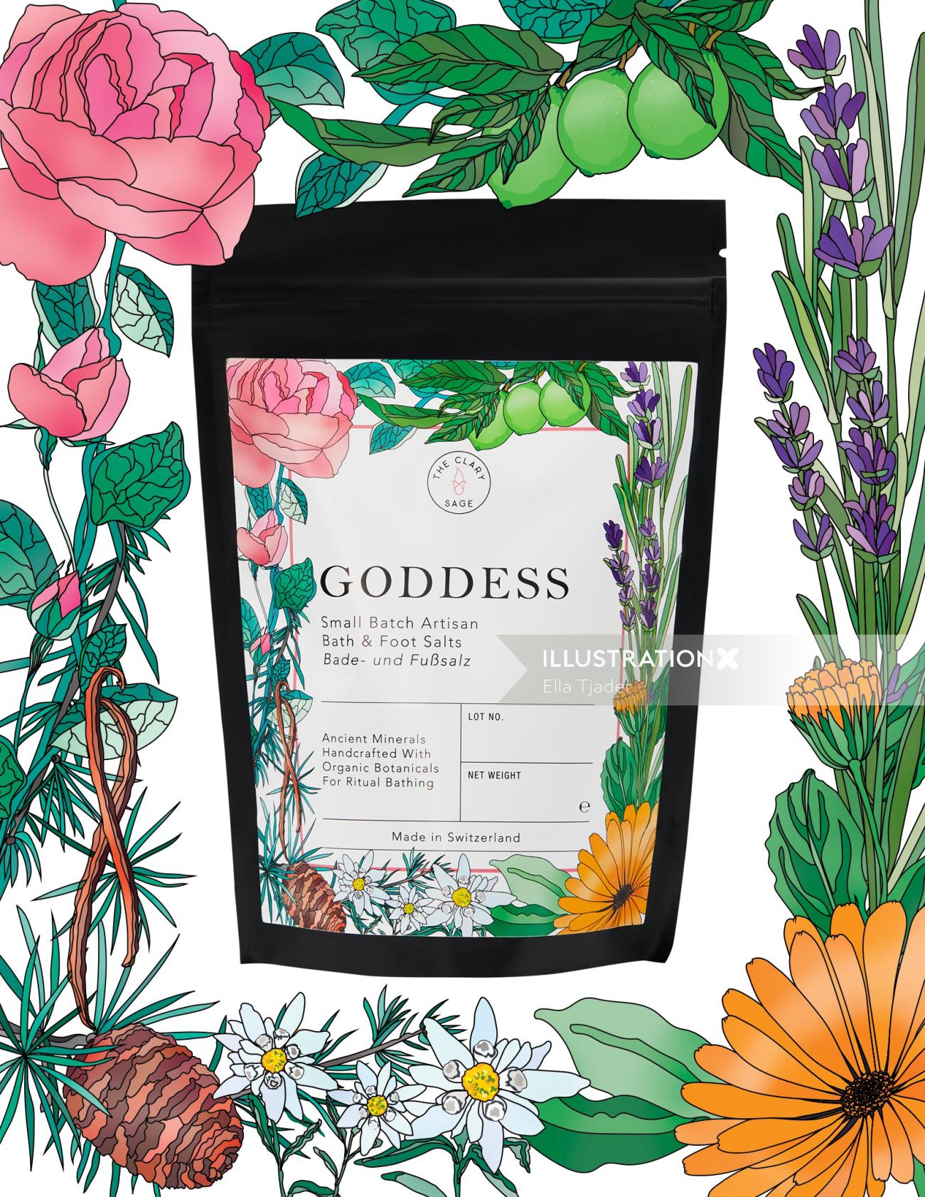 Packaging labels for bath salts