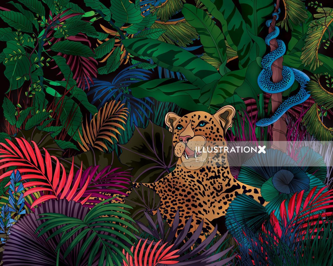 Nightime in a jungle