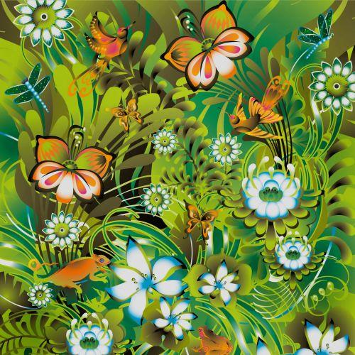 Vector illustration of jungle