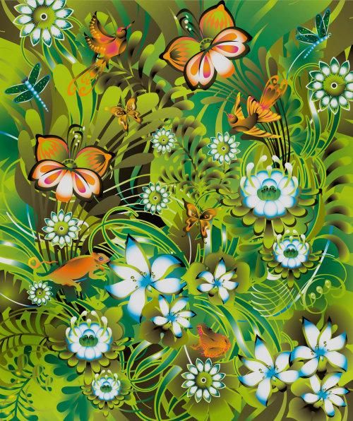 Illustration vectorielle de la jungle