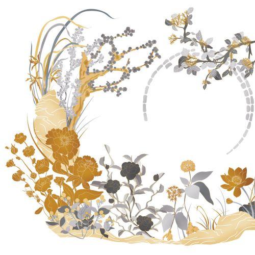 Illustration of Chinese garden