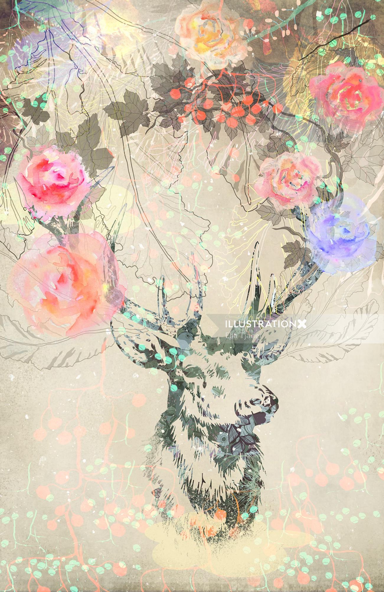 Flowers illustration by Ella Tjader