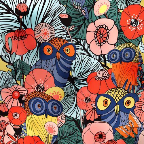 Poppy flowers vector illustration