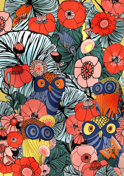 Illustration vectorielle de fleurs de pavot